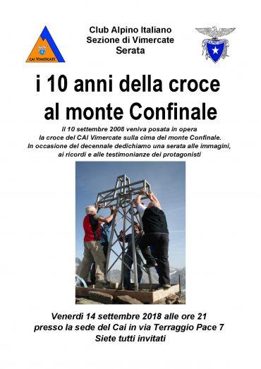 LA CROCE DEL MONTE CONFINALE COMPIE 10 ANNI