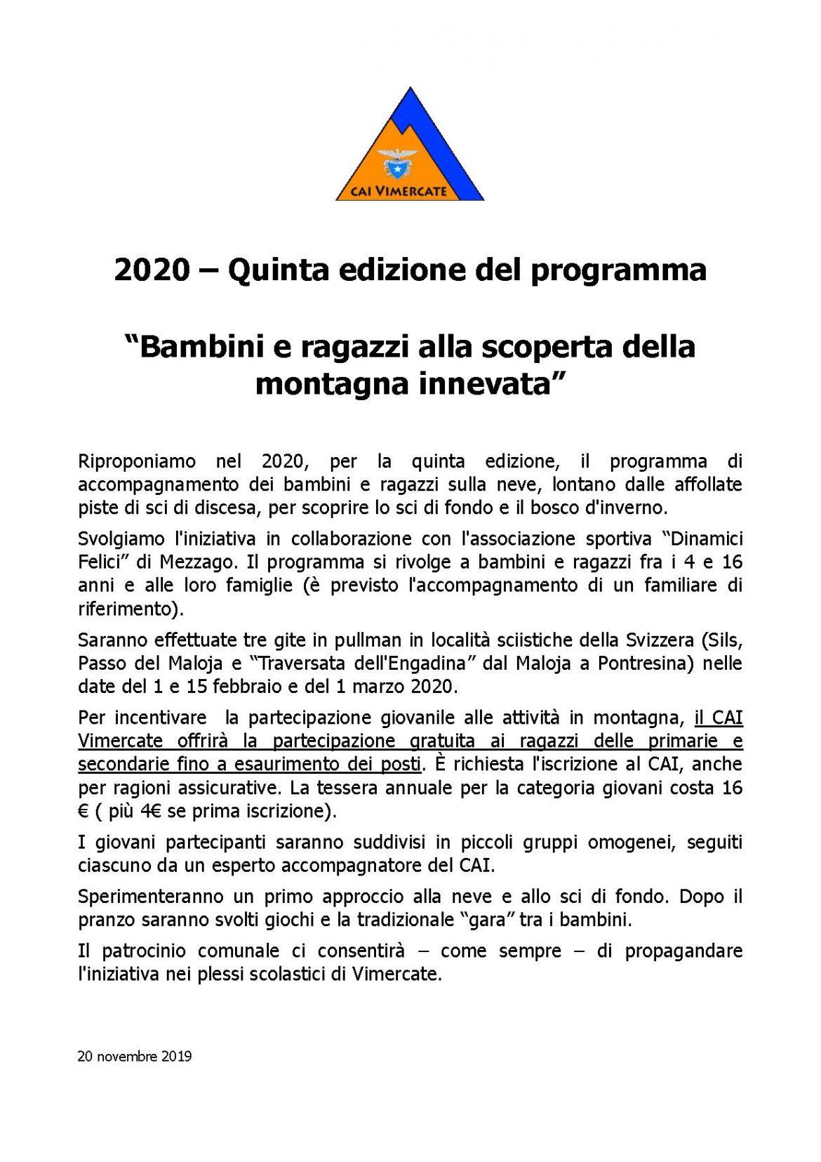 BAMBINI SULLA NEVE 2020